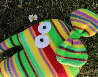 Striped elephant toy Gift for kids who have everything Nursery decor Easter gift Decoration animal doll Plush pillow Stuffed elephant