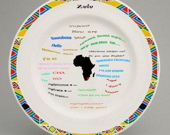 Educational Zulu language plate