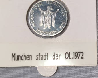 1 x 1972 München 'STADT DER OLYMPIADE' Medal