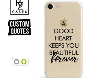 Custom Phone Case, Personalized Case, iPhone 7 Case, iphone case, iphone 6 case, Personalized Gift for Her, Quote Phone Case, iPhone 6s case