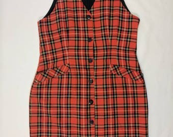 90's Northern Traditions button up jumper dress