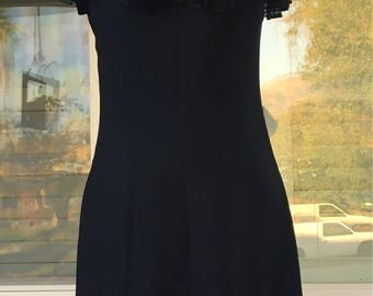 Adorable vintage black cocktail dress