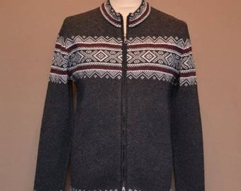 Free shipping! Woolen mens practical sweater with long zipper. Gift idea.