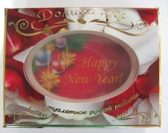 a gift for the mother, a gift for the daughter,soap, happy new year, a gift from a new year, a gift from a photo