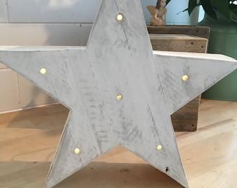 Driftwood whitewashed star