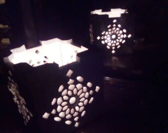 Handcrafted openwork Andalusian Moroccan style tealight, exotic oriental lamp