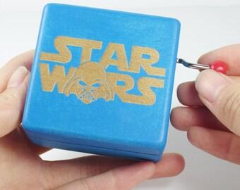 Handmade Engraved Wooden Music Box - Star Wars Theme