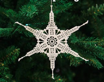 Mount Timpanogos Utah Temple Christmas Ornament