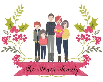 DIGITAL DOWNLOAD - Custom HOLIDAY Family Portrait