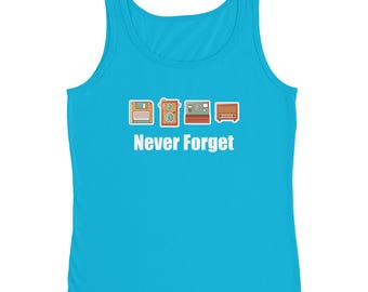 Never Forget Floppy Disk, Camera & Radio Women's Tank Top