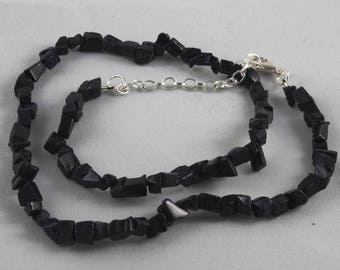 Blue Goldstone Chip Necklace