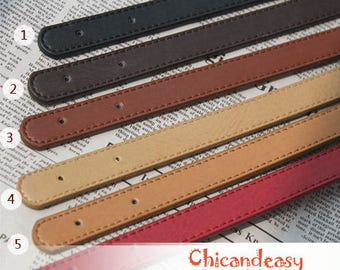 A pair of purse handle PU leather strap for Bag Leather Replacement Strap Handles handbag handle PF_L_415