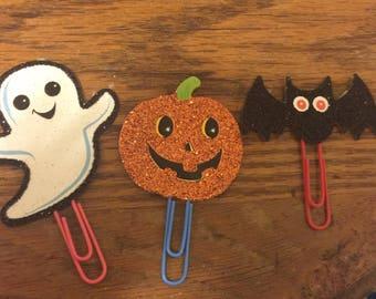 Halloween Planner Clips; Ghost Planner Clips; Pumpkin Planner Clips; Bat Planner Clips; Page Markers; Bookmark