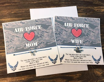 Air Force wife wish bracelet.Air Force charm bracelet.Air Force mom bracelet.Air Force wish bracelet .star charm wish bracelet