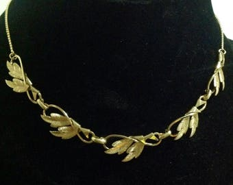 Vintage Curtis Jewelry Mfg.  DCE  signed necklace and  matching earrings.