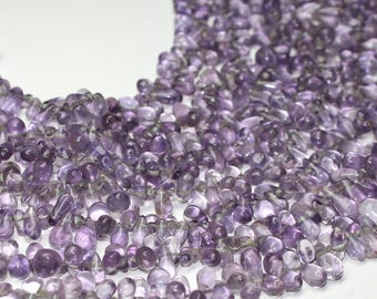 Natural Pink Amethyst Teardrops Strand Lot Gemstone Size- 4x6 To 6x10 Strand Size- 14 inches.