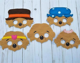 Berenstain Bears Inspired Masks