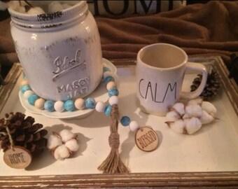 "Rae Dunn Inspired ""Blessed"" bead garland"