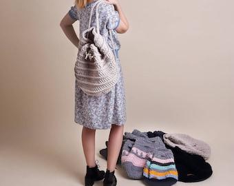 Crochet backpacks