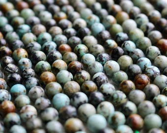8mm African Turquoise beads, full strand, natural stone beads, round, 80038
