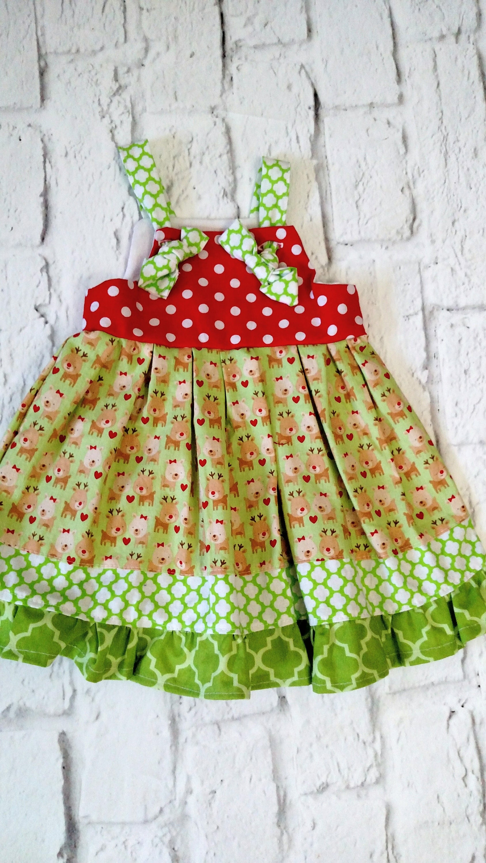 Baby Girls Christmas Dress Handmade Dresses Baby Dress Christmas