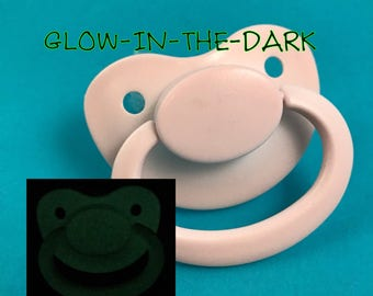 GLOW Adult Pacifier, DDLG Pacifier, ABDL Pacifier, Ageplay, Adult Baby