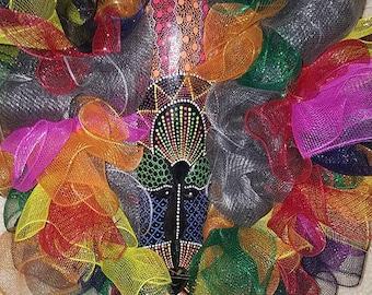 Beautiful multicolor wreath