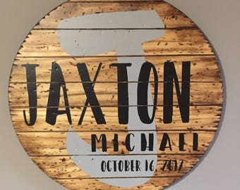 """CUSTOM name sign. kids room nursery photography wood sign creative 23.75"""" hand made artistic  WICKED FOREST"""