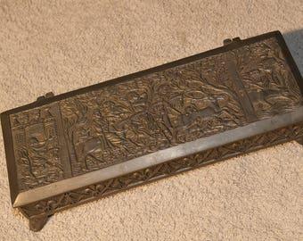Antique Pewter Box