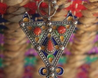 Silver Berber Broach Fibule handmade