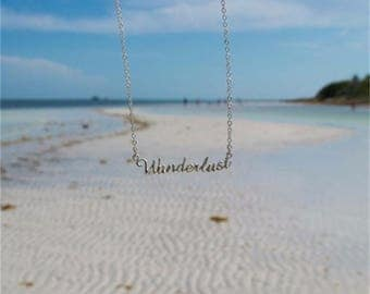 Wanderlust Necklace - Wanderlust Jewelry - Travel Jewelry - Traveler Necklace - Traveler Gift - Founder Jewelry - Gift Ideas - Gift for her