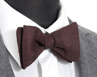 """Wool and linen bow tie """"Augustin"""" / """"Augustin"""" wool & linen Bow Tie"""
