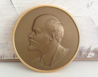 Vladimir LENIN - Soviet Era - Lenin Plaque - from Russia - Soviet Union - USSR
