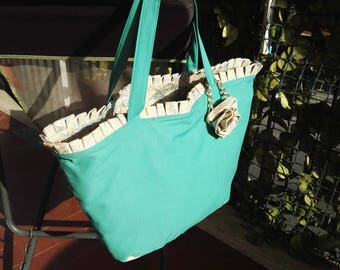 Women's double Face bag/handbag/fabric bag/pouch/sea bag/shoulder bag/summer bag/Beach bag/Large bag