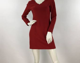 Vintage  Hugo Buscati red mini dress