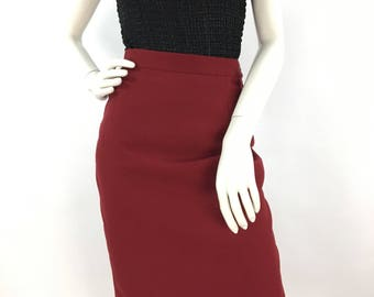 Vintage Jones Studio burgundy wool skirt