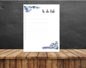 À faire liste imprimable, imprimable pour faire la liste, à faire liste des bloc-notes, papeterie imprimable, pages de planificateur, A4