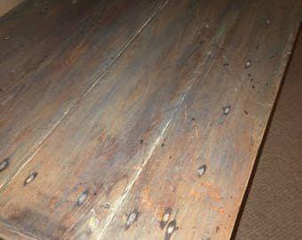 Antique effect pine table
