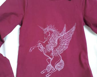 Unicorn design girls t-shirt