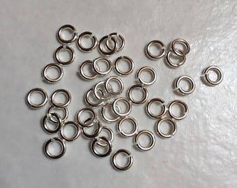 1000 rings dessoudes 5x1mm silver Platinum