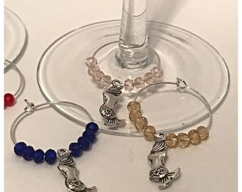 Mermaid Wine Glass Charms
