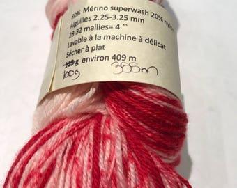 Skein hand dyed Merino nylon