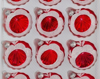 "Navidacio 12pcs Christmas Balls Ornaments Set ""Vintage Red"" New"