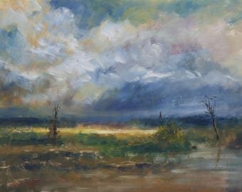 Rumbling Clouds a print from an original Oil painting by Philip Wiseman