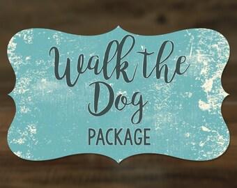 Walk the Dog Package - Dog Leash and Collar set - Nylon, Printed Nylon & Fabric
