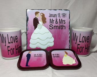 Mr and Mrs Wedding Gifts, Bride, Groom. Bride and Groom Gift
