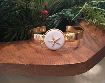 Starfish Wire-Wrapped Bracelet