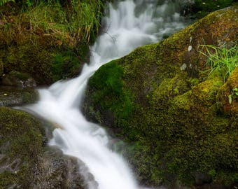 """Mounted Photographic Display Print - Waterfall #1 (A4 print in 14"""" x 11"""" Mount, Unframed)"""