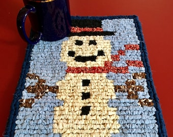 Snowman Hot Pad / Table Mat / Wall Hanging