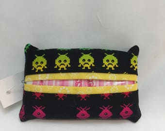 Space Invaders tissue packet cover